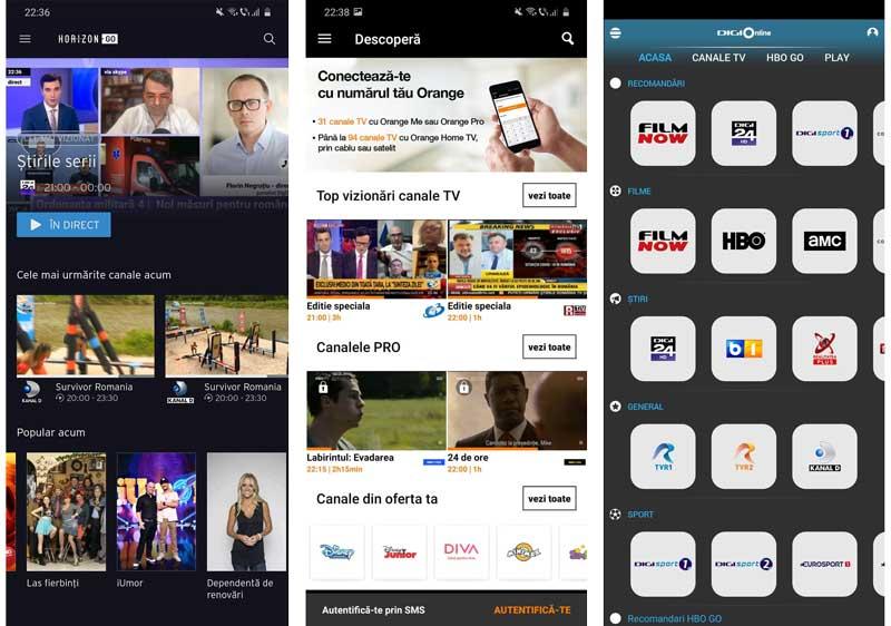 aplicații pentru TV pe telefon
