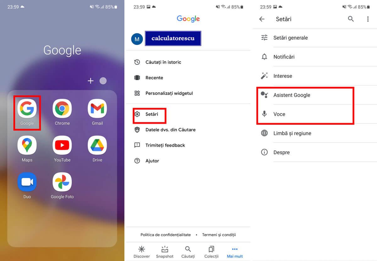 Dezactivare OK Google și Google Assistant