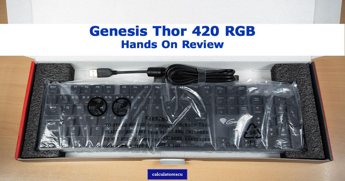 Genesis Thor 420 RGB - păreri