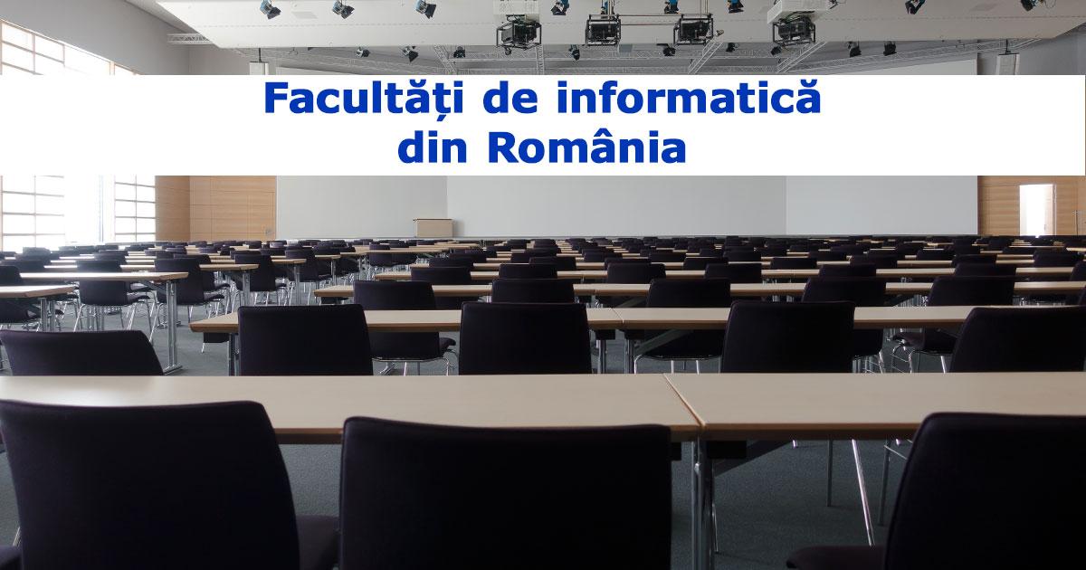 facultăți de informatică din România